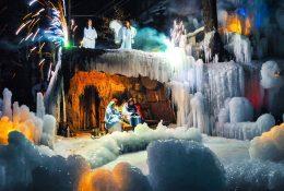 Live Nativity Scene in the Icy kingdom