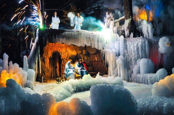 Il presepe vivente nel regno del ghiaccio