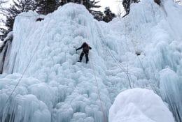 Ledno plezanje v soteski Mlačca