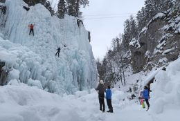 Ice climbing in Mlačca gorge